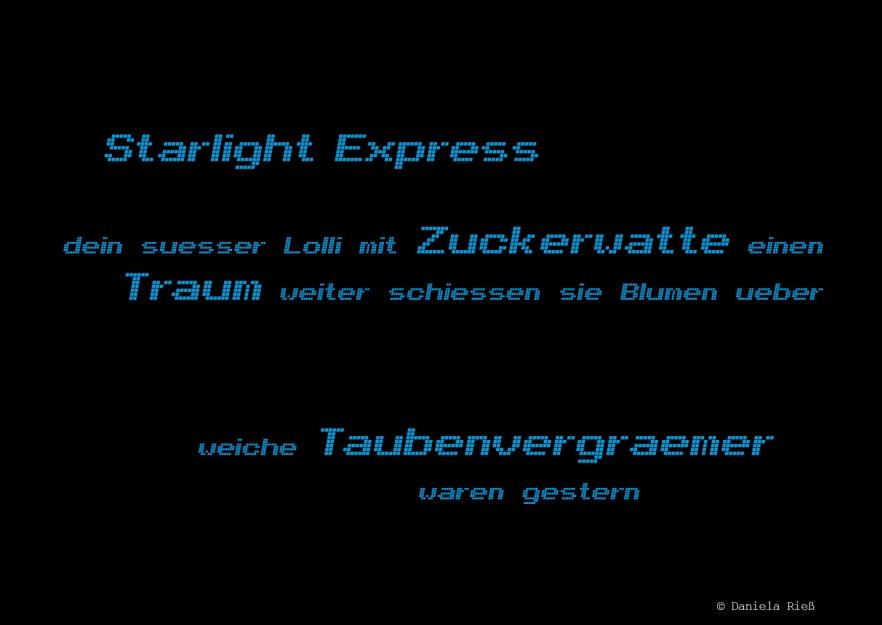 Starlight, Express 1